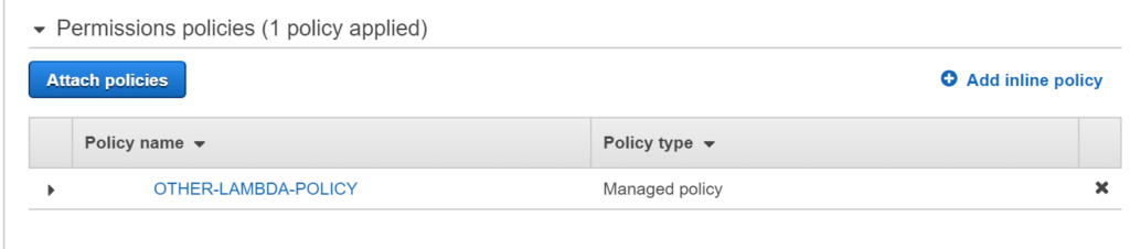 Create IAM policies using AWS Lambda